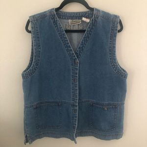 Vintage Medium Wash Denim Vest